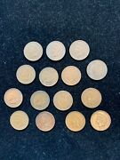15 Pc 1909 Indian Head Penny Cents Xf Or Better Scarce