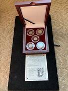 Crusader Friends And Foes 5 Silver Coin Collection -wood Presentation Box Coa