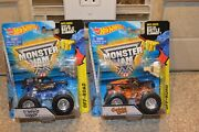 Hot Wheels Monster Jam Captains Curse And Son Uva Digger Edge Glow Chassis Vhtf H