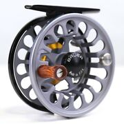 Bauer Rx Fly Reel Charcoal - All Sizes - Free Fly Line - Free Fast Shipping
