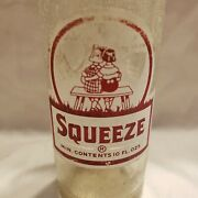 Squeeze 1950and039s Glass Soda Bottle 10oz Coca Cola Company Bottled In New Orleans