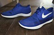 Nike Solarsoft Moccasin Men's Size 12 Running Shoes Blue 555301-403 Beach Water