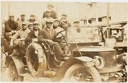 1910and039s Baseball Team Unidentified Real Photo Postcard In Early Automobile Ex