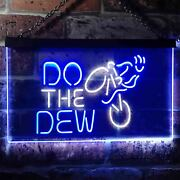Do The Dew Mountain Bike Dual Color Led Neon Sign St6-i3394