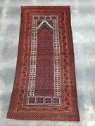 S205 Excellent Afghan Vintage Handmade Knotted Tribal Style Rug 194andtimes90 Cm