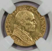 1941 Iii Vatican G100l Ngc Au53 Only 2000 Minted
