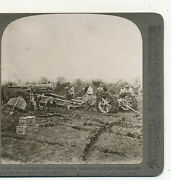 Artillery Men Moving Equipment In Mud Difficult Wwi Underwood Stereoview C1917