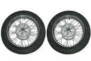 2 Complete Front And Rear 16 36 Holes Wheel Rim + Tyre Tube For Jawa Bikes