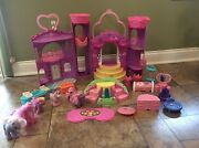 Vtg My Little Pony Celebration Castle Ponies And Accessories