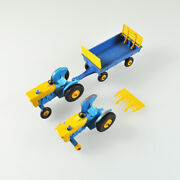 2 X Matchbox No.39 And 1 X 40 - Ford Tracteur And Hay Trailer - Remorque