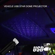 Usb Car Interior Atmosphere Light Starry Sky Ambient Led Projector Lamp Blue