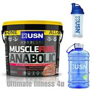 Usn Muscle Fuel Anabolic 4kg All In One Mass Gainer And An Shaker + 2 Litre An Jug