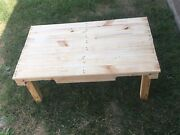 Rustic Reclaimed Knotty Pine Pallet Coffee Table - Unfinished - Made In Usa