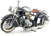 Vintage Diecast Indian Harley Motorcycle Black Metal Model Toy Collectibles Hot