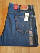 Nwt 550 Relaxed Through Thigh Menand039s Blue Jeans Tapered Leg Size 42x30