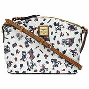 Mickey And Minnie Mouse Americana Crossbody Bag By Dooney And Bourke
