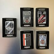 Zippo Lighter Harley-davison Motor Cycles Collectors Edition 5 Pack