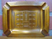 1950s Chauffeurs And Helpers Union Ad Cigar Ashtray Pittsburgh Bastian Bros Ny
