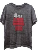 Peanuts Snoopy Living The Dream Grey Color Burnout Style T-shirt.size L