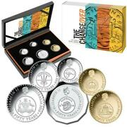 2016 Six Coin Proof Set - The Changeover - Fifty Years Of Decimal Currency