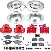 Kc529 Powerstop 4-wheel Set Brake Disc And Caliper Kits Front And Rear New For Vw