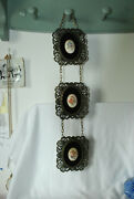 Lot Of 3 Cast Metal Ovals Shaped Picture Frames E.a. Riba Co Inc. Brooklyn N.y.