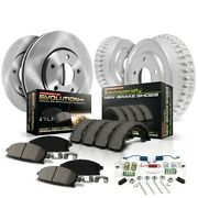 Koe15115dk Powerstop 4-wheel Set Brake Disc And Drum Kits Front And Rear New