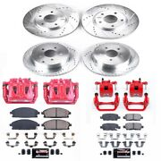 Kc2766 Powerstop Brake Disc And Caliper Kits 4-wheel Set Front And Rear For Quest