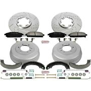 K15115dk Powerstop 4-wheel Set Brake Disc And Drum Kits Front And Rear New For Qx4
