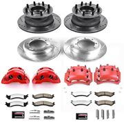 Kc4435a-36 Powerstop 4-wheel Set Brake Disc And Caliper Kits Front And Rear
