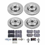 Tdbk6529 Powerstop 4-wheel Set Brake Disc And Pad Kits Front And Rear New