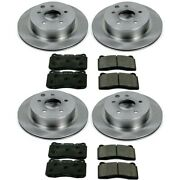 Tdbk6167 Powerstop Brake Disc And Pad Kits 4-wheel Set Front And Rear New