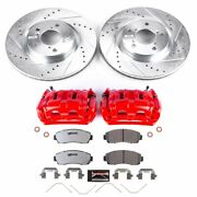Kc5857-26 Powerstop Brake Disc And Caliper Kits 2-wheel Set Front For Odyssey