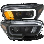 111379 Anzo Headlight Lamp Driver And Passenger Side New Lh Rh For Toyota Tacoma