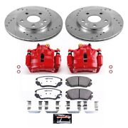 Kc5522-26 Powerstop Brake Disc And Caliper Kits 2-wheel Set Front For Chevy