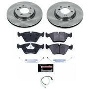 Tdsk582 Powerstop Brake Disc And Pad Kits 2-wheel Set Front New For 3 Series