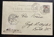 1898 Shanghai China Postcard Ps Cover French Post Office To Gross Germany