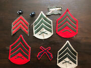 Lot Of Us Marine Corps Usmc Patches And Chevrons Wwi Wwii Korean War Vietnam War