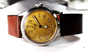 1958 Rolex Oyster Precision 6282 Gold Dial 34mm Stainless Wristwatch Manual Wind