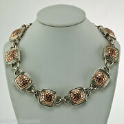 C. Krypell 15 Mm Python Collection Necklace Rose Gold And Sterling Silver 17