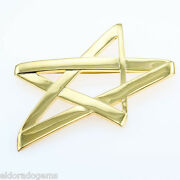 And Co. Large Paloma Picasso Star Brooch Pendant Necklace 18k Yellow Gold