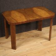 Coffee Table Furniture Living Room Table Antique Style Art Deco In Walnut Wood
