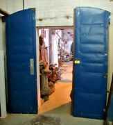 Large 8.3 Ft. Tall Industrial Steel Fire Door Southern Cotton Mill Salvage