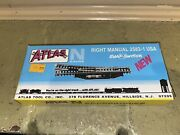 Vintage Atlas N Scale Right Remote 2583 Track Section Snap Switch Nib