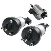 For Mercedes C-class W205 Air Suspension Compressor + 2× Front Shock Absorbers
