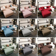 1 / 2 / 3 / 4 Seater L-shape Elastic Sofa Covers Stretch Slipcover Corner Couch