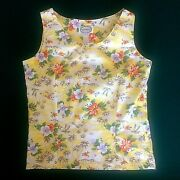 Tank Top With Tags Hibiscus Outrigger Cheeseburger Brand Women's Xl Sleeveless