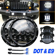 4x 7and039and039 Led Headlight Hi/lo Project And 4and039and039 Fog Light Fit Freightliner Century Clas