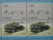 1939 Triumph Dolomite Car 50-stamp Sheet / Auto 100 Leaders Of The World