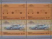 1970 Plymouth Superbird Nascar Car 50-stamp Sheet Auto 100 Leaders Of The World